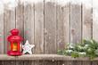 Obrazy na płótnie, fototapety, zdjęcia, fotoobrazy drukowane : Christmas candle lantern and decor