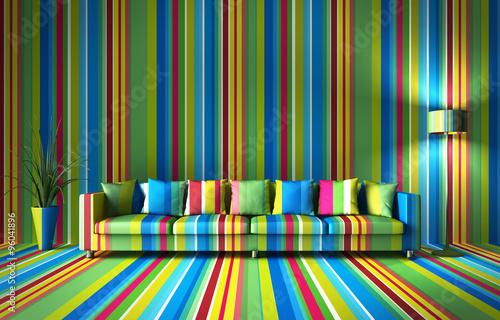 Sofa - bunte Streifen © peterschreiber.media