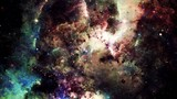 Fototapety Digital abstract of a bright and colorful nebula galaxy and stars