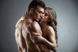 Quadro Erotica. Embrace of attractive nude couple