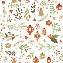 Boże Narodzenie bez szwu deseń