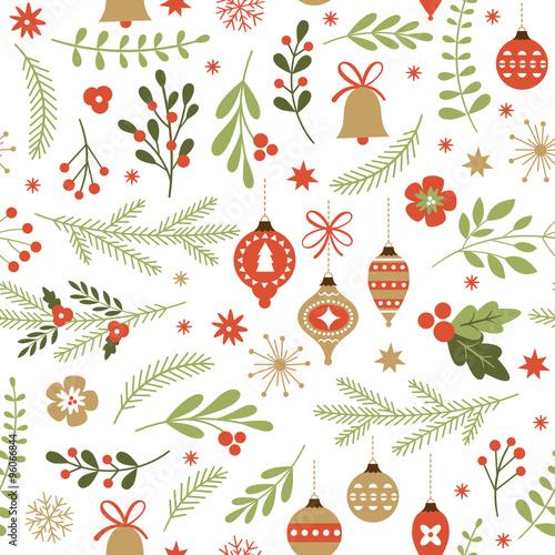 obraz PCV seamless Christmas pattern
