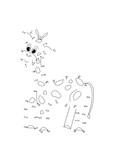 gioco puntini, giraffa