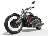Fototapety Powerful Vintage Motorcycle - Red Engine