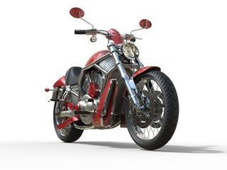 Red Roadster Bike - Front View © Dimitrius