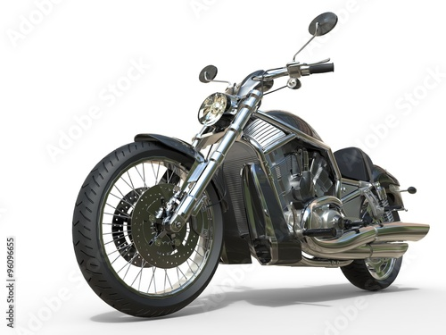 Powerful Vintage Motorcycle - Closeup плакат