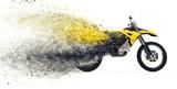 Fototapety Dirt Bike Disintegration