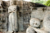 Single Rock Carved Buddhas - Polonnaruwa - Sri Lanka