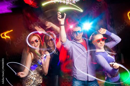 Naklejka dancing party
