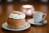 Traditional Swedish pastry called Semla.