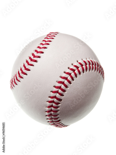 new baseball isolated on white background Poster