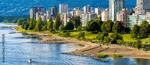 Papiers peints Canada Vancouver beaches panorama, aerial view