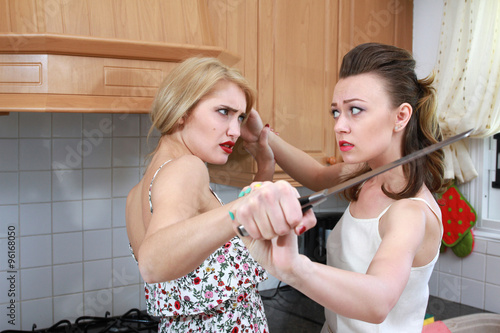 Poster Women fighting in the kitchen