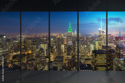 Tuinposter New York New York Night View