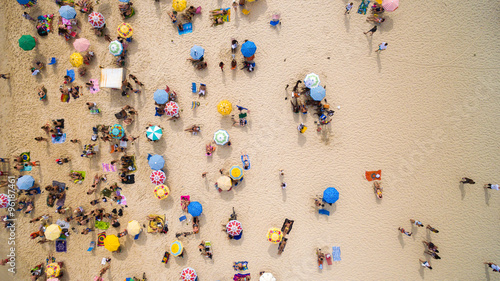 Beach on a top angle of view
