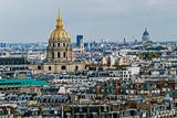 Aerial view of Dome des Invalides, Paris, France