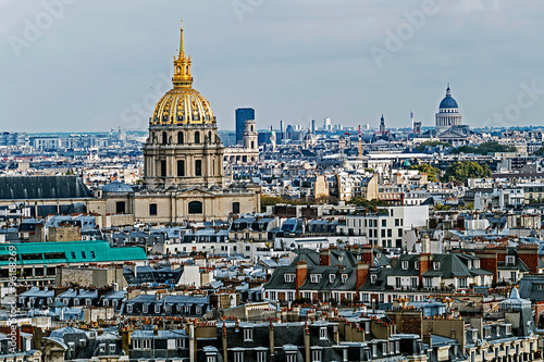 Aerial view of Dome des Invalides, Paris, France - 96188269