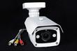 White security camera - Monitoring CCTV