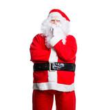 Weihnachtsmann mit prüfendem Blick