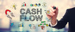 Businessman drawing Cash Flow concept