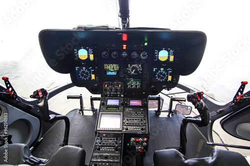obraz lub plakat Modernes Hubschrauber Cockpit