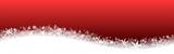 Bannière dégradé rouge Noël avec vague de neige