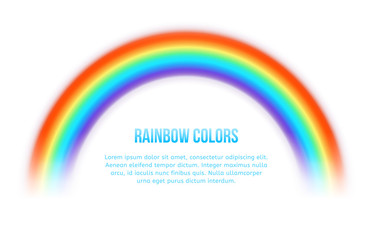 Vector rainbow on white background