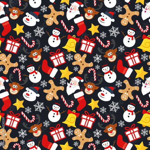 Materiał do szycia Christmas Seamless Vector Pattern 3