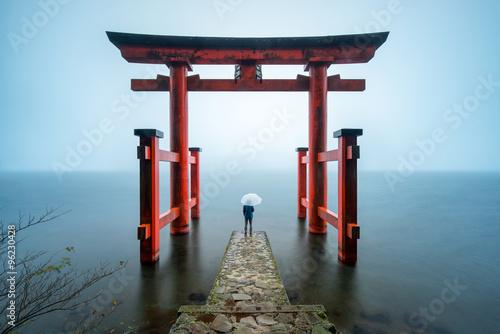 Hakone Shrine in Japan