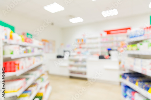Tuinposter Apotheek pharmacy or drugstore room background