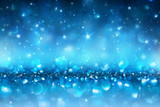 Sparkling Christmas Background - Blue Abstract