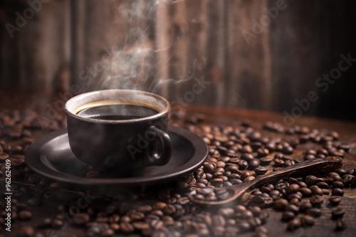 In de dag Koffiebonen Coffee cup