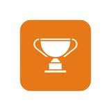 Icono trofeo mod11 naranja cuadro