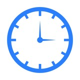 Vector clock blue icon