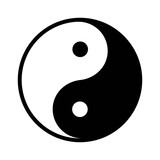 Ying yang balance flat icon for apps