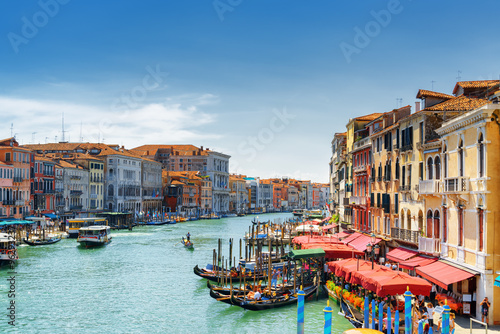 View of the Grand Canal from the Rialto Bridge. Venice, Italy Poster