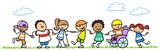 Fototapety Integration von Kindern mit Behinderung