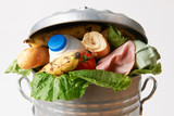 Fototapety Fresh Food In Garbage Can To Illustrate Waste