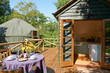 Exterior Of Beautiful Holiday Yurt