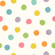 Abstract seamless pattern with bright colorful hand drawn dots