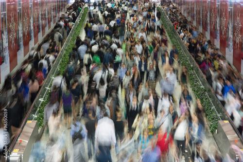 Foto op Plexiglas Havana Crowded People in the Asia city - Hong Kong