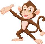 """Cartoon Happy monkey presenting isolated on white background 96353639,India Flag"""""""