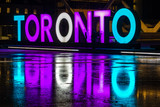 Toronto Nathan Philiips square at night