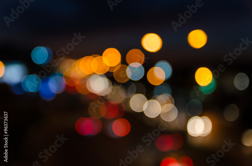 Foto op Aluminium Las Vegas abstract blur light bokeh