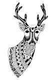Vector Zentangle Reindeer
