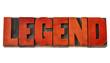 Obrazy na płótnie, fototapety, zdjęcia, fotoobrazy drukowane : legend word in wood type