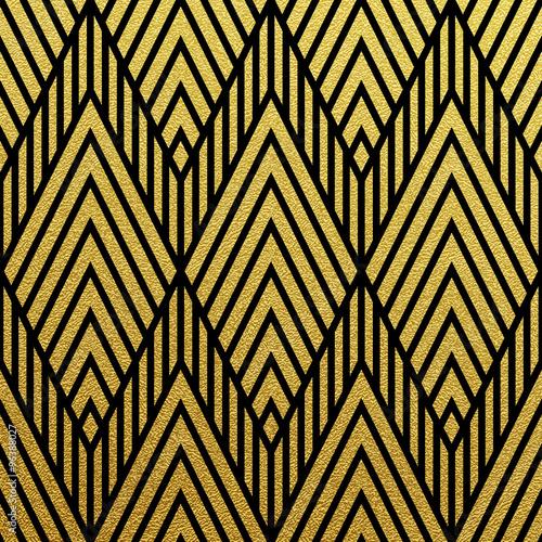 Vector geometric gold pattern