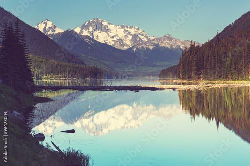 Poster Landschappen Lake in Canada