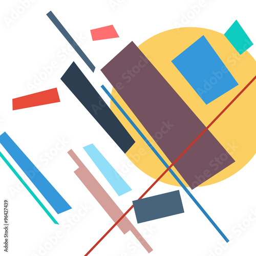 abstract geometric colorful vector background - 96427439