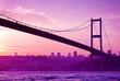 Bosphorus Bridge in Istanbul at sunset.Turkey